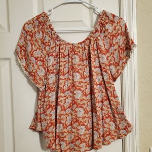 Forever 21 floral print blouse Size M